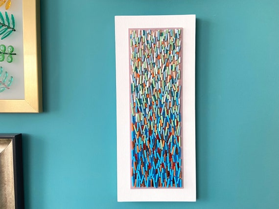 Abstract Glass Wall Art Designer, Fused Glass Artwork Wall