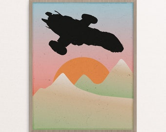 Serenity Firefly Space Ship Minimalist Poster