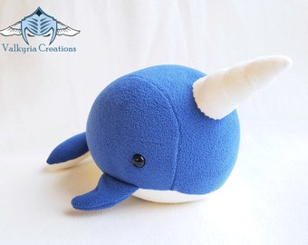 Narwhal Whale Plush toy - Handmade