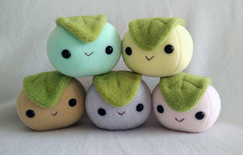 Mochi dessert rice ball plush - Handmade
