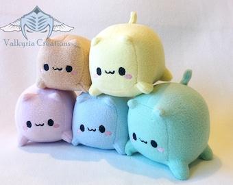 Cat Loaf Cube Plush - Handmade