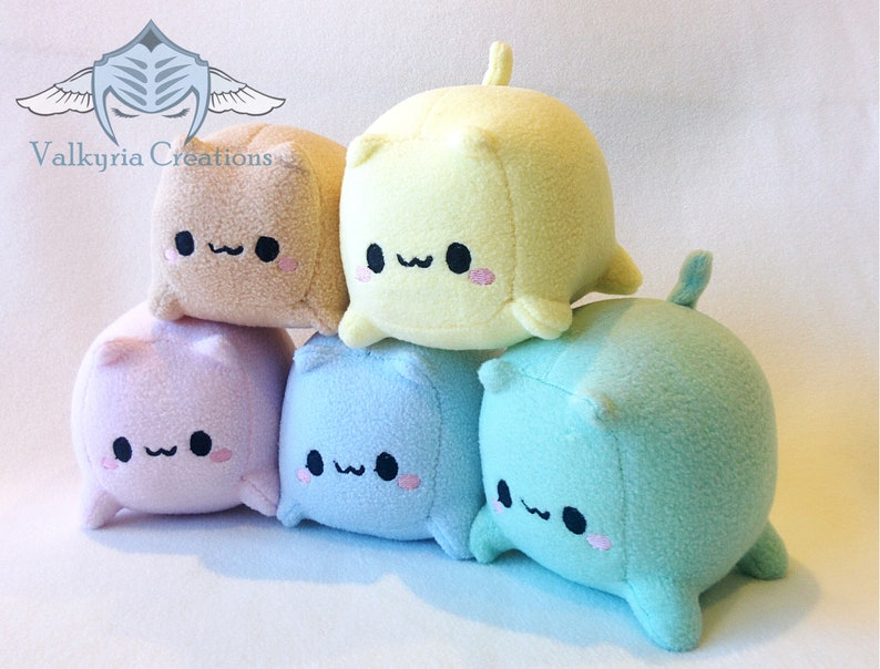 Cat Loaf Cube Plush  Handmade image 0