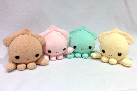 Small Squid Plush Handmade Etsy