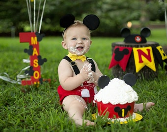 MICKEY MOUSE Inspired Cake Smash Outfit Boys Clothing Photo Prop