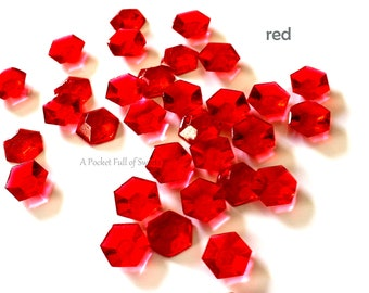 Edible, Cake, Cupcake, Toppers, Red, Crystals, Stone, Cookie, Decor, Sugar, Gemstones, Jewels, Diamonds, Candy, Gems, Wedding, Bridal Shower