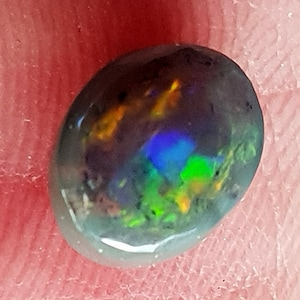 Opal Oval Cabochon Light Grey Base from Lightning Ridge Pendant Stone or Brooch Stone 14.5 x 8 mm approx.Item 742