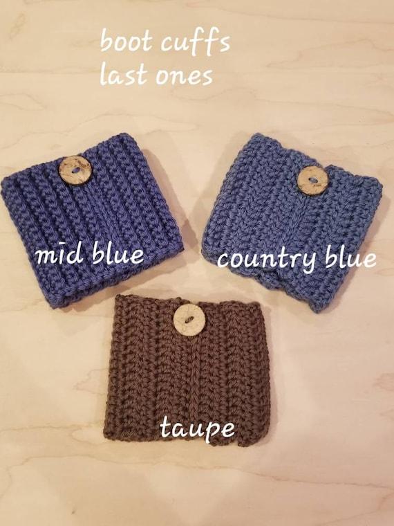 Handmade Crochet Boot Cuffs Boot toppers Boot socks