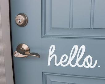 Hello Front Door Vinyl // Home Decor Vinyl // Hello Vinyl // Decals // Removable Vinyl // Home Decor // Curb Appeal // Front Door Decal //