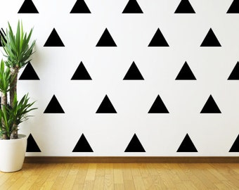 """Set of 20 4"""" wide Triangle Wall Decal // Triangle Wall Decal // Vinyl Wall Decal // Wall Decor // Modern Decal // Custom Wall Decal //"""