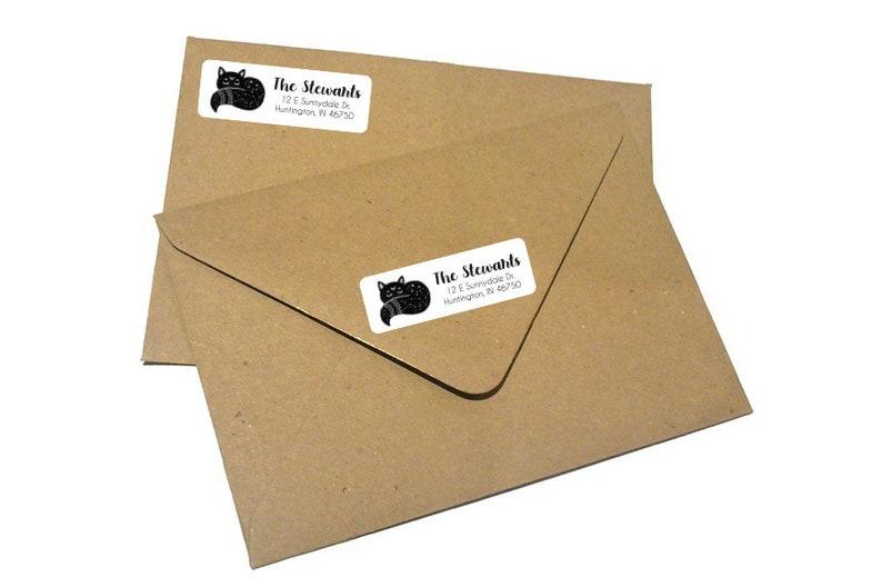 Custom Return Address Labels 3.5 x 1  Fox Labels  Packaging Labels  Custom Name Labels  Address Labels  Personalized Labels