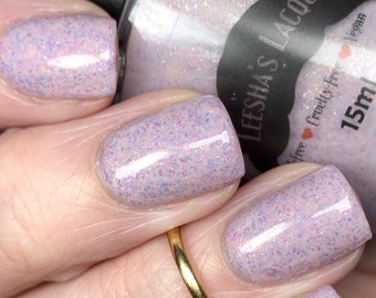 Freshly Fresa - Pink Crelly Indie Nail Polish, Glitter Nail Lacquer