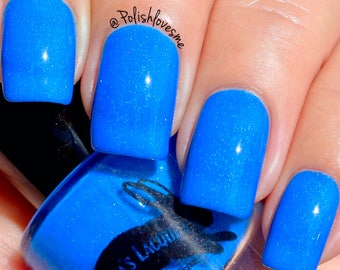 Neon Blue Indie Nail Polish - Purse First - 5-Free, Cruelty Free and Vegan