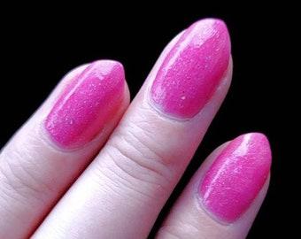 Great Lakes Pink - Pink Indie Nail Polish, Neon Pink Nail Polish, Glitter Indie Lacquer, Nail Lacquer