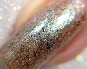 Rhiannon  - The Goddess Collection - Brown and Rainbow  Multichrome Nail Polish, Vegan and Cruelty Free