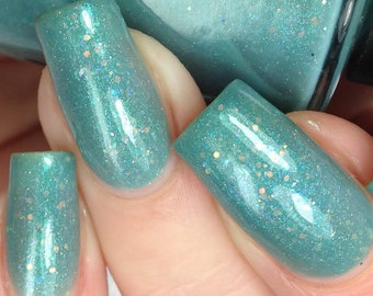 Bunny Loaf - FOR CHARITY - March 2018 OOAK of the Month - Turquoise Indie Nail Polish