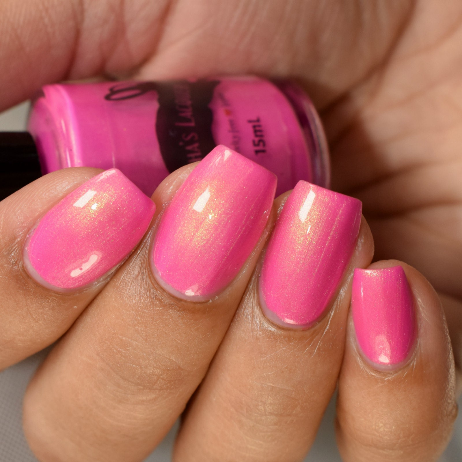 Teeming with Tulips Pink Indie Nail Polish Shimmer Nail | Etsy