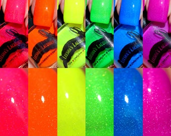 Indie Nail Polish Full Collection of Summer Jelly Neons - Drag Eleganza Extravaganza Collection