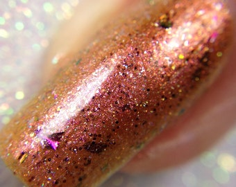 Athena  - The Goddess Collection - Red Orange Yellow Multichrome Nail Polish, Vegan and Cruelty Free