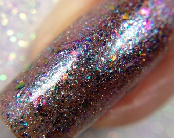 Aphrodite - The Goddess Collection - Pink and Blue Multichrome Nail Polish, Vegan and Cruelty Free