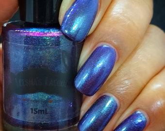 Sharon - Purple Nail Polish, Multichrome Indie Nail Polish, Blue Nail Lacquer
