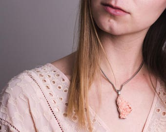 fire collection element balancing stilbite bass guitar string necklace with sterling silver