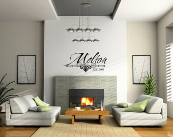 Family Name Decal - Vinyl Family Name Established - Family Established Vinyl Wall Art 0029