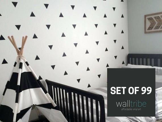 vinyl wall decals vinyl wall stickers vinyl triangle wall | etsy