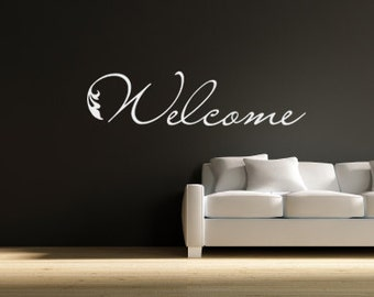 Welcome Vinyl Letters - Vinyl Welcome Decal - Welcome Vinyl Wall Art 0024