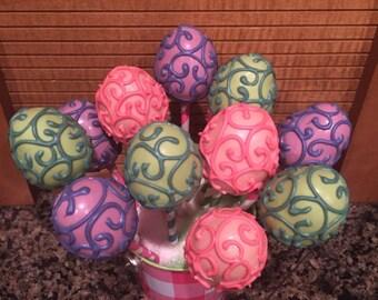 Fancy Easter Egg  Cake Pops (Regular or Gluten Free)