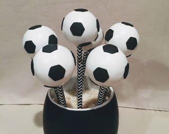 Soccer Ball Cake Pops (Regular or Gluten Free*)