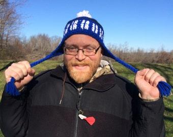 Crochet TARDIS Hat, Adult
