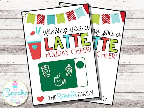Christmas Cards For Teachers.Thanks A Latte Christmas Card Christmas Coffee Gift Card Holder Thank You A Latte Holiday Card Teacher Gift Nurse Gift Digital