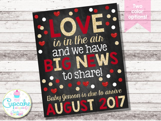 Valentine S Day Pregnancy Announcement Love Is In The Air