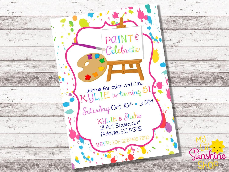 Painting Party Birthday Invitation Art Birthday Party | Etsy