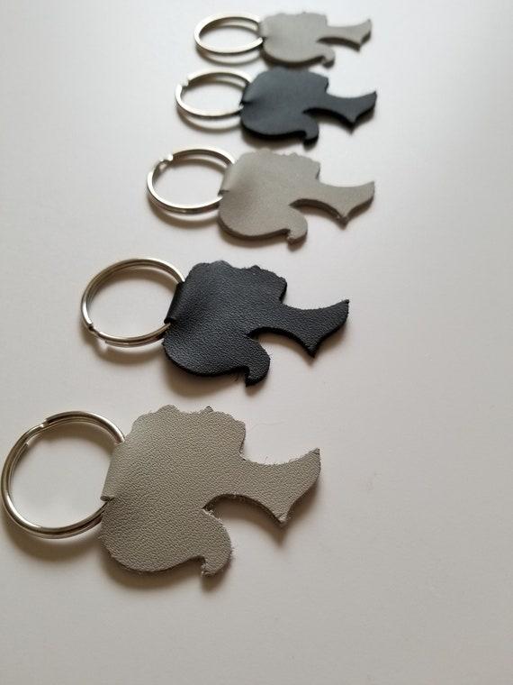 Leather Key Fob Key Fob Doll Head Keychain Girl Silhouette CHIFFANCY SILHOUETTE KEYCHAIN Silhouette Leather Keyring Leather Keyring