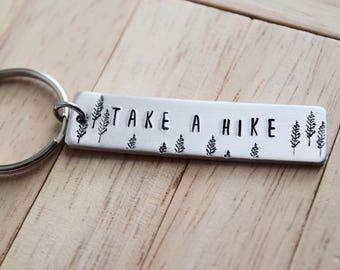 Faites une randonnée ~ chaîne clé en aluminium léger