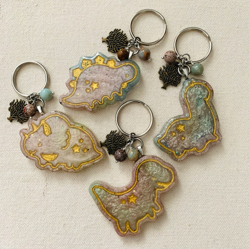 Earthy Dinosaurs~ Resin Keychain ~ Accessories