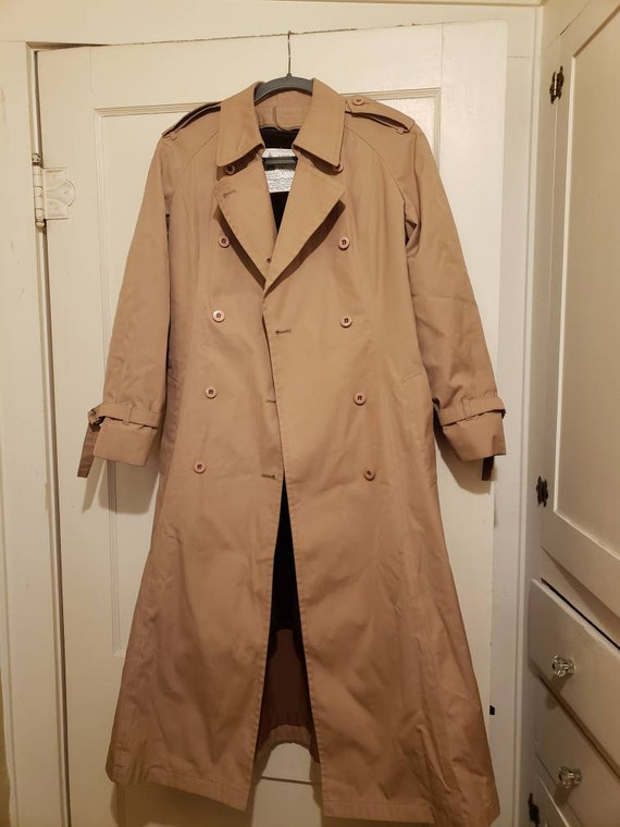 Vintage London Fog Trench Coat Jacket Womens