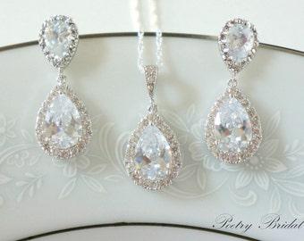 Bridal jewelry etsy crystal bridal earrings bridal jewelry junglespirit Images