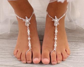 5e9ed5fb626d50 Flower Girl Barefoot Sandals