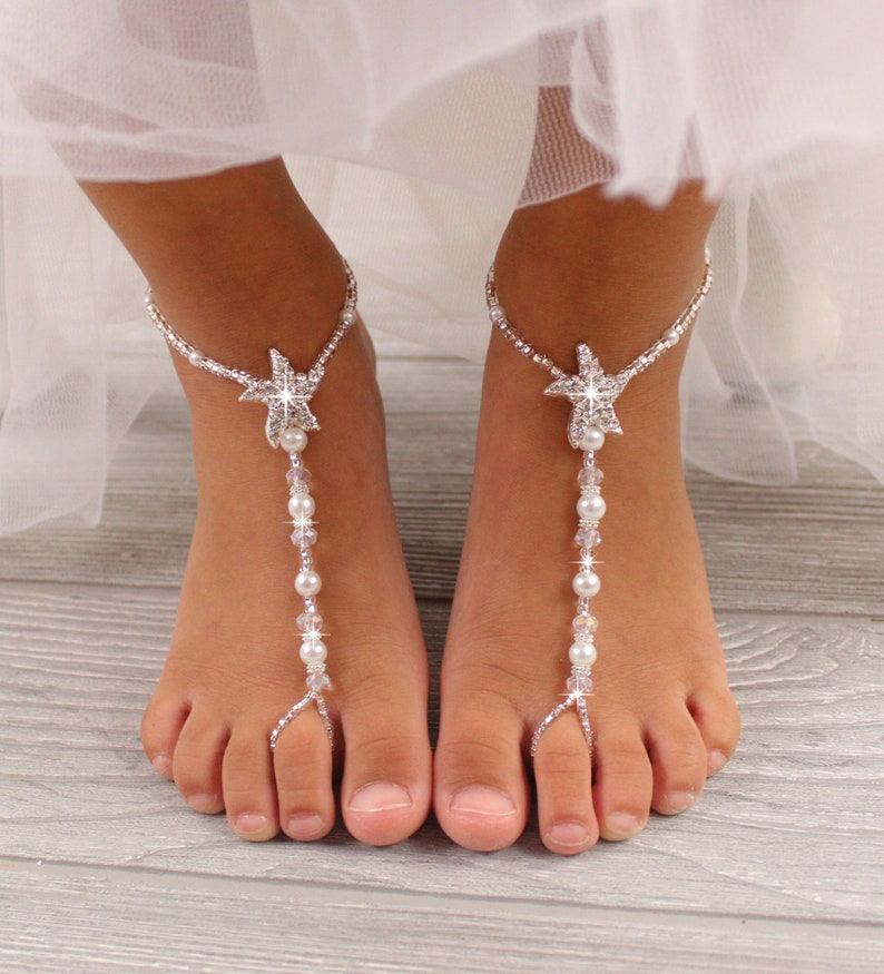 261dcc5716538 Flower Girl Barefoot Sandals Wedding Barefoot Sandals Boho