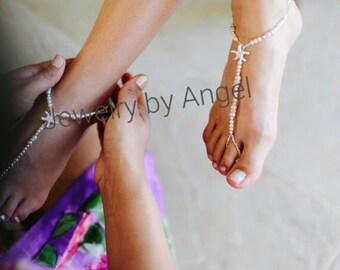 Starfish Foot Jewelry  Starfish Wedding Jewelry Barefoot Sandals