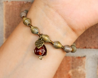 Brown Bracelet with Charm