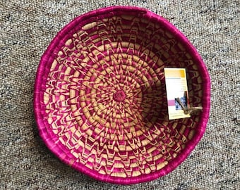 Handmade Grass Basket From Uganda, Africa