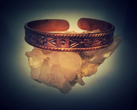 VIntage Navajo Children's Copper Bracelet