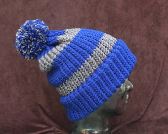 Harry Potter Ravenclaw INSPIRED slouchy knit hat with pom pom
