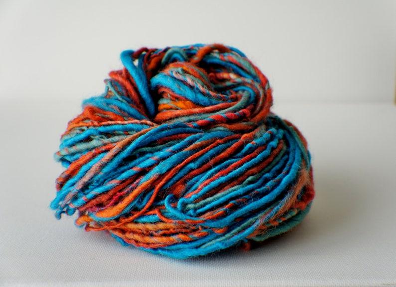 Art Yarn knitting supplies crochet supplies Thick and Thin Yarn SALE: Bulky handspun yarn