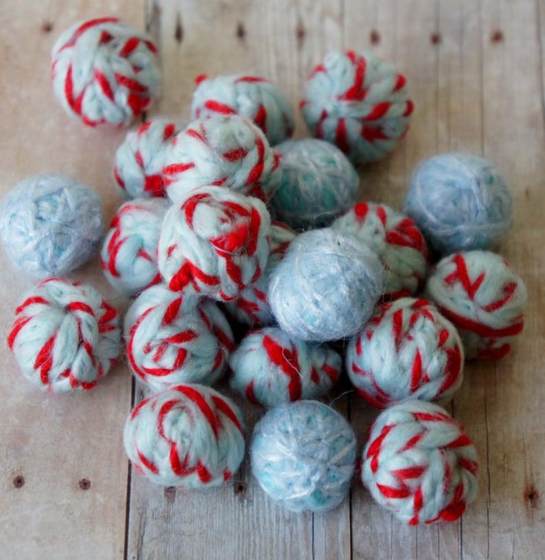 Felt Beads Blue and Red shades Beads Felt Balls Felt Beads Felted Balls Wool Beads Extra large Beads Round
