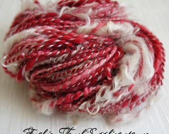 SALE: Handspun Yarn, Santa Merino Art Yarn, Thick and Thin Yarn, knitting supplies crochet supplies, thick n thin