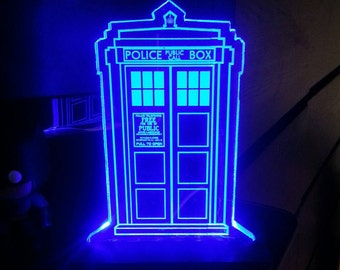Dr. Who Tardis Acrylic LED Light Sign, Led Display Sign, Led Lite Sign